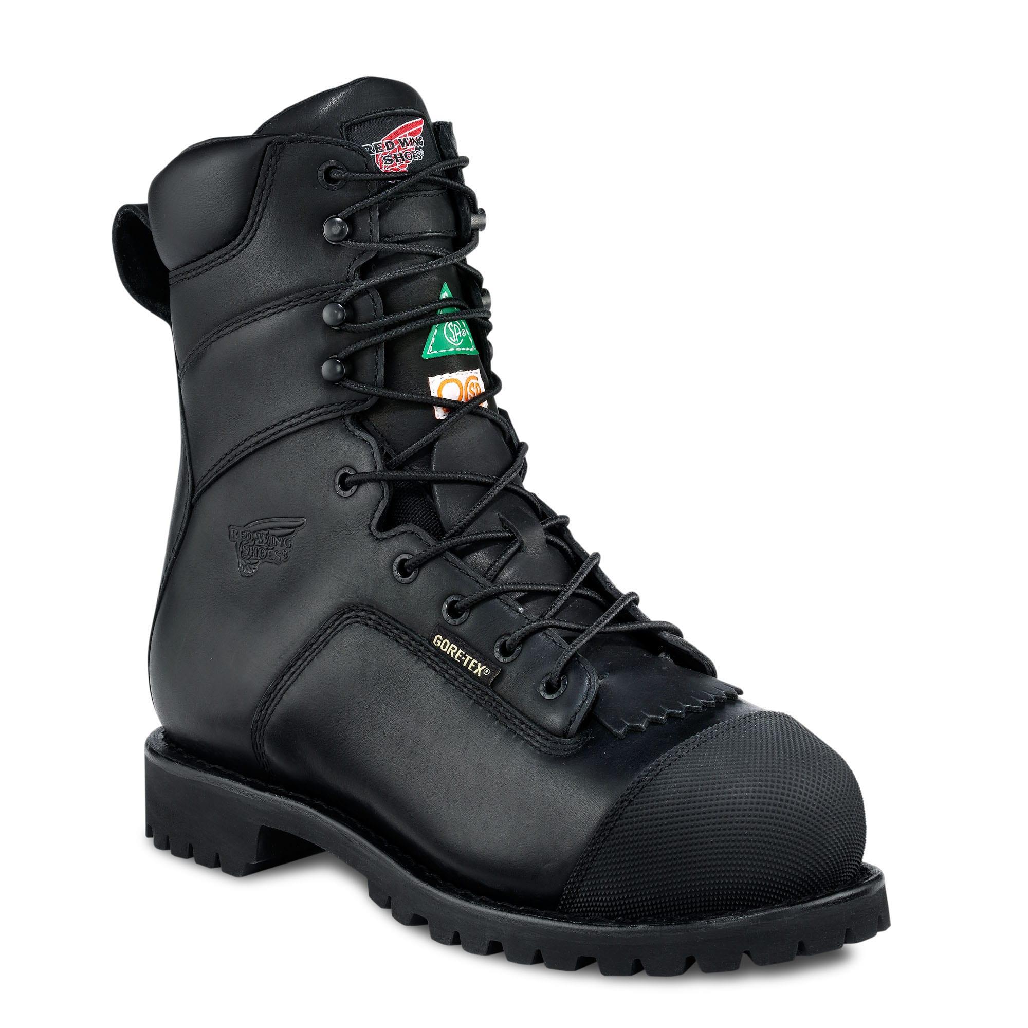 Redwing 3527 8 Quot Black Vibram Sole Rubber Toe Cap Goretex